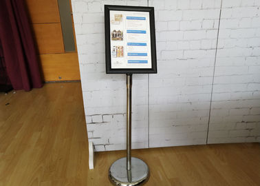 China Versatility A4 Poster Display Stands / Adjustable Hight Floor Standing Poster Holder factory