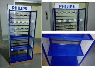 China Metal Tube Frame Branded Display Stands With Customized Graphic Sign Versatility factory