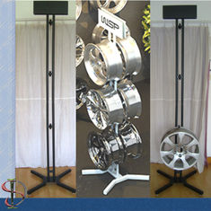 China Six Wheels Auto Body Parts Racks , 2 Sides Metal Mag Wheel Display Stand factory