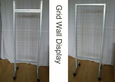 China OEM Wire Metal Grid Display Rack  / Supmarket Two Sides Iron Display Stand supplier