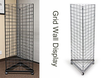 China Three Sides Triangle Grocery Store Display Racks For Supmarket Metal Gridwall factory