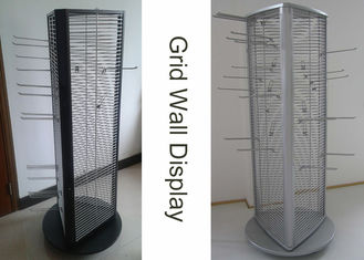 China Rotating Triangle Wire Grid Display Stands factory