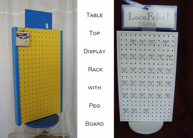 China Rotating Tabletop Pegboard Display / Double Side Countertop Pegboard Display factory