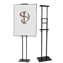 China Ad Picture Metal Frame Poster Display Stand Knock Down Structure Customized Size factory
