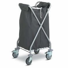 China Folding Laundry Hotel Luggage Dolly / OEM Chrome Hotel Luggage Carrier supplier