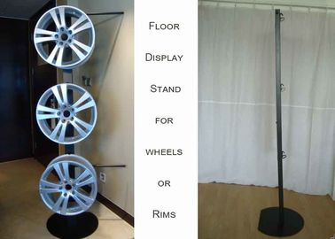 China One Side Wheels Auto Parts Display Racks With Metal Tube Frame Heavy Weight supplier