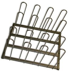 Metal Display Vinyl Roll Wall Rack / Industrial Wall Mount Vinyl Storage Rack