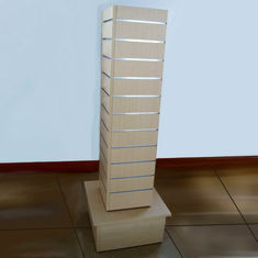 China Retail MDF Spinner Display Stands / Square Shaped Retail Floor Display Stands factory