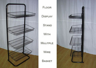 China Steel 4 Shelves Metal Floor Stand supplier