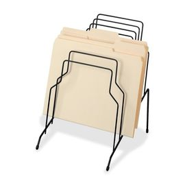 China Counter Top File Sorter Office Display Racks With Welded Wire Divider Structure supplier