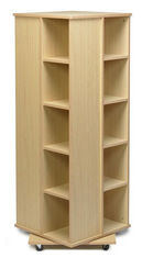 China 4 Sides Books Cabinet Home Display Rack MDF Spinner Storage W50 X D50 X H176cm factory
