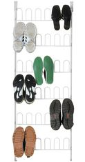 China Multilayer U Door Home Display Rack For Shoes Storage 18 Pair Knock Down supplier