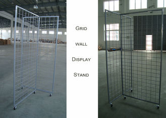 China Wire Grid Wall Grocery Store Display Racks With Three Sides T Shaped 3 Inch factory