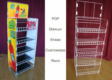 China Customize Size Wire Shelf Display Rack  / Graphic Side POP Wire Display Stand supplier