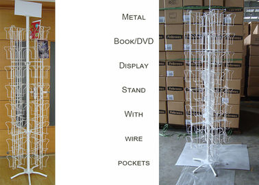 China 96 Iron Wire Pockets Greeting Card Display Stand , DVD Greeting Card Display Spinner supplier