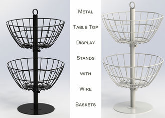 China 2 Baskets Metal Table Top Display Stands factory