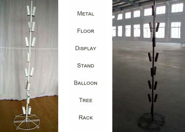 China Balloons Tree Metal Floor Display Stands / 16 Tubular Holder Metal Display Rack factory