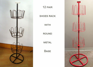 China U Shaped Home Shoe Display Stand , Multilayer Metal Wire Shoe Storage Rack factory