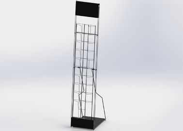 China 10 Wire Pocket Collapsible Office Display Racks With Bags Customized Size factory