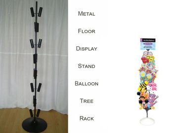 China Balloon Metal Display Racks And Stands Heavy Duty Base / 8 Layers Tubular Holder factory