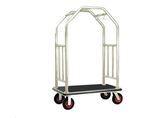 China Bright Luggage Cart Hotel Display Stand With Hooks / Luggage Cart Hotel Luggage Dolly supplier