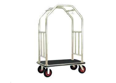 Bright Luggage Cart Hotel Display Stand With Hooks / Luggage Cart Hotel Luggage Dolly