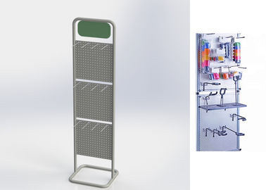 Universal Grocery Store Display Racks / Two Pegboard Metal Display Stand