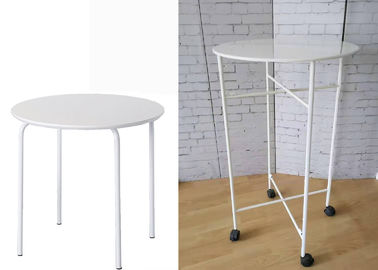 China Home Round Metal Table For Kid  /  Durable Store Promation White Metal Table factory