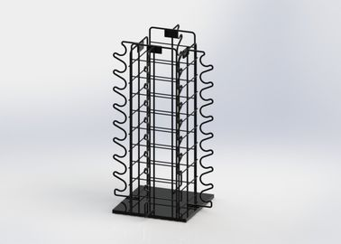 China Sunglasses Eyewear Metal Counter Display Stands With Rotated Base factory