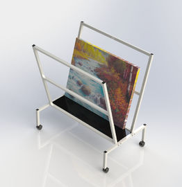 China V - Shape Metal Oil Painting Frame Office Display Shelves Arts Bin Storage Stand factory