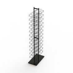 China Double Sides Floor Hat Rack 24- Layers Wire Baseball Cap Display Rack factory