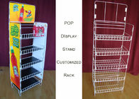 China Customize Size Wire Shelf Display Rack  / Graphic Side POP Wire Display Stand factory