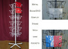 China 24 Landscape Wire Book Display Stands / Greating Card Wire Book Rack Display factory