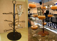 China 12 Arms White Cocktail Tree Stand Rack , 3 Layers Wine Glass Metal Display Rack factory