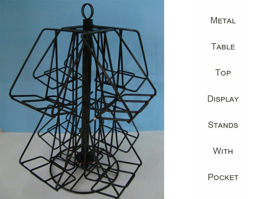 8 Shelves Wire Countertop Display Rack Rotating Spinner