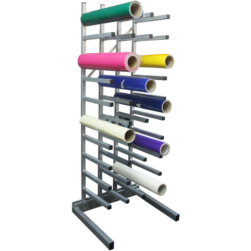 Industrial Metal Vinyl Roll Storage Rack supplier
