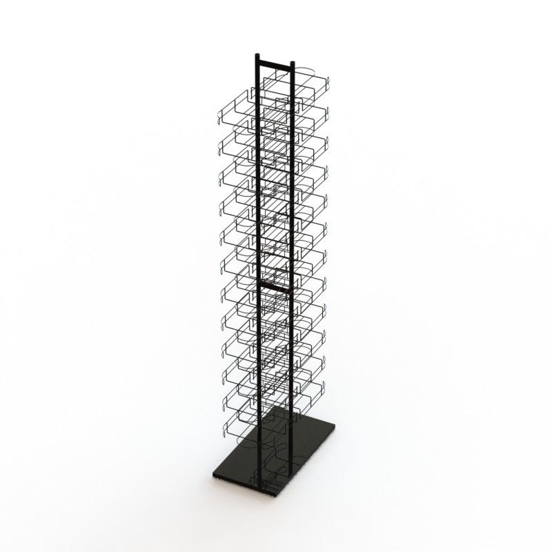 Double Sides Floor Hat Rack 24- Layers Wire Baseball Cap Display Rack