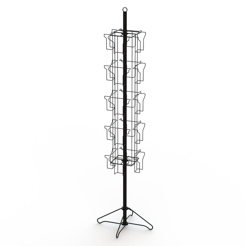 Wire Base Spinner Pockets Rotatable Metal Book Display Stand supplier
