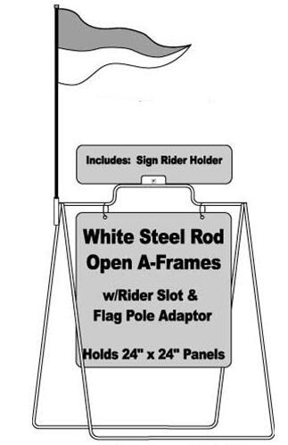 Steel Rod Open A Frame Display Stands / Landscape Simplicity Metal Wire Display Racks