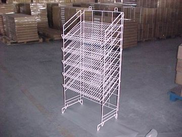 China Adjustable Height Metal Wire Display Racks For Supmarket Folding Feature distributor