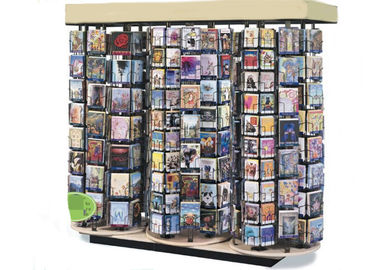 China Supmarket Video Wire Spinner Rack Display / Metal DVD Greeting Card Spinner Rack distributor