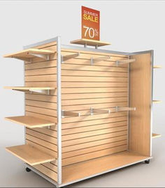 China Floor Stand Slatwall Display Panels / Aluminum Strip Slatwall Display Stand distributor