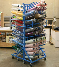 China Double Sides Roller Industrial Display Stands With Six Columns Upright Pole distributor