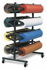 China Heavy Duty Vinyl Roll Floor Storage Rack , Metal Iron Tube Vinyl Roll Holder distributor