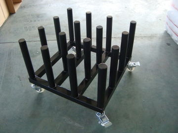 China Iron Tube Industrial Display Stands Cart For Vinyl Upright Rolls Easy Movement distributor