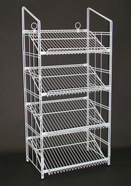China Supermarket Metal Wire Display Stands / Mulitple Shelf Wire Rack Display Stands distributor