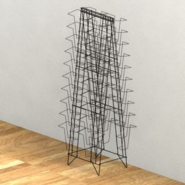 China Double Sides Metal Magazine Display Rack , 40 Pockets Floor Spinner Display Rack distributor