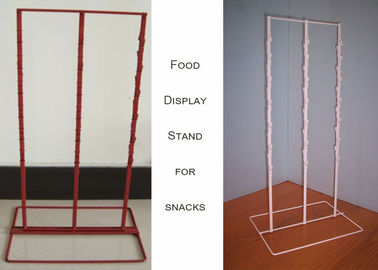 China 3 Strips Snake Potato Chip Clip Rack / Double Sides Food Hanging Chip Clip Display distributor