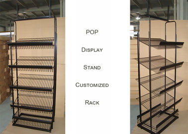 China Light Duty Commercial Metal Wire Display Racks With Mulitple Shelves KD Structure distributor