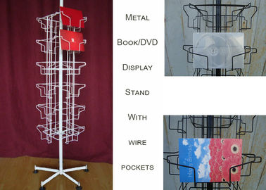China 24 Landscape Wire Book Display Stands / Greating Card Wire Book Rack Display distributor